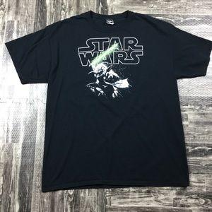 Star Wars Yoda Shirt Black XL Shirt